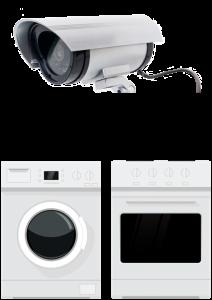 Videoüberwachung, weiße Ware